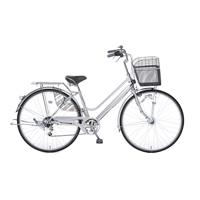 【自転車】【全国配送】KiLaCle パンクしにくい軽快車 外装6段 27インチ シルバー【別送品】