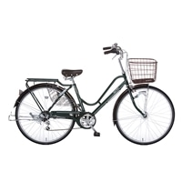 【自転車】【全国配送】KiLaLi パンクしにくいカジュアル軽快車 外装6段 26インチ グリーン【別送品】