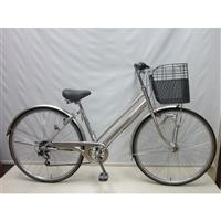 【自転車】【全国配送】KiLaLi パンクしにくいシティ車 外装6段 27インチ シルバー【別送品】