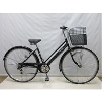 【自転車】【全国配送】KiLaLi パンクしにくいシティ車 外装6段 27インチ ブラック【別送品】