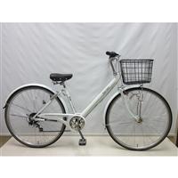 【自転車】【全国配送】KiLaLi パンクしにくいV型シティ車 外装6段 27インチ ホワイト【別送品】