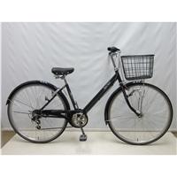 【自転車】【全国配送】KiLaLi パンクしにくいV型シティ車 外装6段 27インチ ネイビー【別送品】