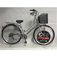 【自転車】【全国配送】KiLaLi パンクしない軽快車 外装6段 27インチ シルバー【別送品】