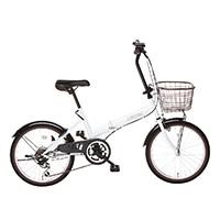 【自転車】【全国配送】折りたたみ自転車 コンフィチュール 外装6段 20インチ ホワイト【別送品】