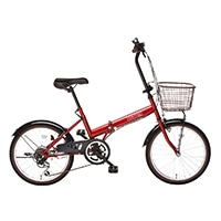 【自転車】【全国配送】折りたたみ自転車 コンフィチュール 外装6段 20インチ レッド【別送品】