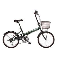 【自転車】【全国配送】折りたたみ自転車 コンフィチュール 外装6段 20インチ グリーン【別送品】