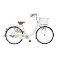 【自転車】【全国配送】KiLaLi パンクしにくい乗り易い軽快車 24インチ アイボリー【別送品】
