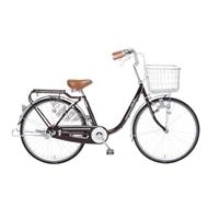 【自転車】【全国配送】KiLaLi パンクしにくい乗り易い軽快車 24インチ ワインレッド【別送品】