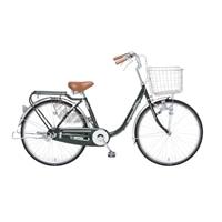 【自転車】【全国配送】KiLaLi パンクしにくい乗り易い軽快車 24インチ グリーン【別送品】