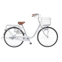 【自転車】【全国配送】KiLaLi パンクしにくい乗り易い軽快車 26インチ シルバー【別送品】