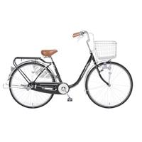 【自転車】【全国配送】KiLaLi パンクしにくい乗り易い軽快車 26インチ ブラック【別送品】