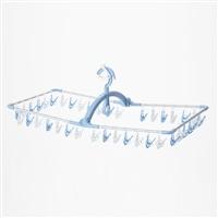 【数量限定】アルミ角ハンガーポリカピンチ 40P ブルー