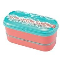 弁当箱 ランチボックス2段ベルト付き ピンク