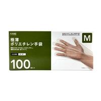 極薄ポリエチレン手袋100枚M・CPE100M