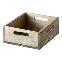 【trv・数量限定】WOOD BOX S 24X20X9cm