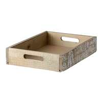 【trv・数量限定】WOOD BOX M 34X24X6.5cm