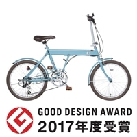 【自転車】【全国配送】折りたたみ自転車 SLIKE�U(スライク�U) 外装6段 20インチ ブルー【別送品】