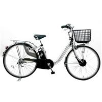 【自転車】【全国配送】KiLaCle パンクしにくい電動自転車 内装3段 26インチ シルバー【別送品】