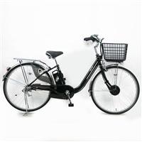 【自転車】【全国配送】KiLaCle パンクしにくい電動自転車 内装3段 26インチ ブラック【別送品】