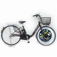 【自転車】【全国配送】KiLaCle パンクしにくい電動自転車 内装3段 26インチ ブラウン【別送品】