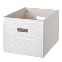 S51 木製収納ボックス ホワイト