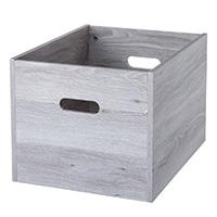 S52 木製収納ボックス グレー