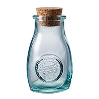 【trv】スペイングラスコルク蓋付き調味料ボトル 2個入り