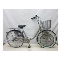 【自転車】【全国配送】軽く乗れる軽快車 sorbet(ソルベ) 24インチ 銀【別送品】