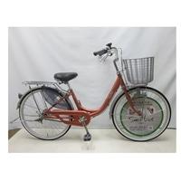 【自転車】【全国配送】軽く乗れる軽快車 sorbet(ソルベ) 24インチ 桜【別送品】