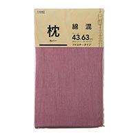 綿混 枕カバー ローズ 43×63