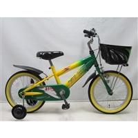 【自転車】【全国配送】補助付き子供用自転車サンダーフォースキッズ16インチグリーン/イエロー【別送品】