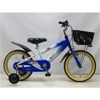 【自転車】【全国配送】補助付き子供用自転車サンダーフォースキッズ18インチブルー/ホワイト【別送品】