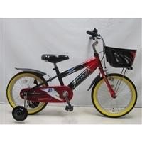 【自転車】【全国配送】補助付き子供用自転車サンダーフォースキッズ18インチレッド/ブラック【別送品】