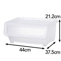 キャリコプラス Carico+ M 浅型 スモーキークリア 幅44×奥行37.5×高さ21.2cm