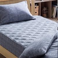 敷きパッド 綿フラノグレー セミダブル 120×200