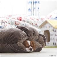 【2017秋冬】ミニあったかロールクッション ブラウン 50x50