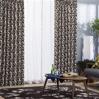 4枚組遮光セットカーテン ミッキー&ミニー 100×135 ブラウン