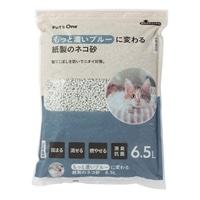 猫砂 Pet'sOne もっと濃いブルーに変わる紙製のネコ砂 6.5L