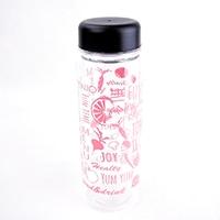 【数量限定】割れにくい 軽量クリアボトル 500ml ピンク