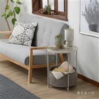 N70 収納付きサイドテーブル ホワイト