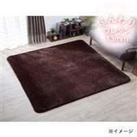【2017秋冬】ふんわりラグ 楓 200×250 ブラウン