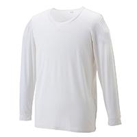 【数量限定】VL 吸湿発熱インナーシャツ丸首 9分袖 ナチュラルホワイト LL