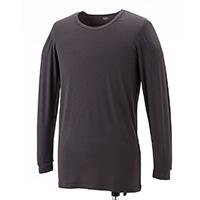 【数量限定】VL 吸湿発熱インナーシャツ丸首 9分袖 グレー L
