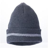 【数量限定・2017秋冬】反射ライン付ニット帽子ブラック杢CPA1736
