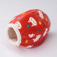 のぞき穴付きドームベッド 猫柄 ピンク