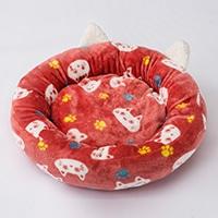 まんまるベッド 猫柄 ピンク