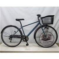 【自転車】【全国配送】バスケットが広がるクロスバイク SWIDE(スワイド) 外装6段 27インチ グレー【別送品】