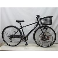 【自転車】【全国配送】バスケットが広がるクロスバイク SWIDE(スワイド) 外装6段 27インチ ブラック【別送品】