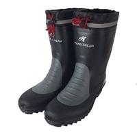 紳士裏ドライカバー付ショート長靴 BK M(25.0〜25.5cm)