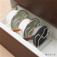 鍋・フライパン・ふた スタンド分離式 ホワイト